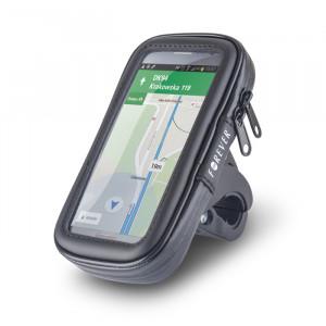 Βάση Στήριξης Ποδηλάτου / Μηχανής Forever BH-100XL Αδιάβροχη + Θήκη Smartphone - Μαύρο
