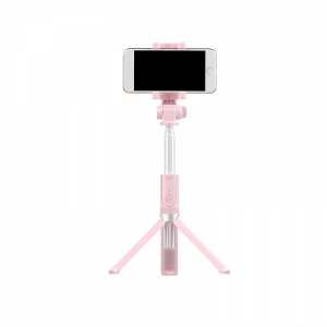Selfie Stick Tripod WK-Design WT-P04 Bluetooth - Ροζ