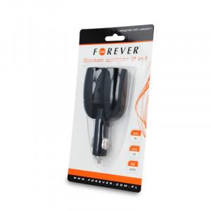 Φορτιστής Αυτοκινήτου Splitter 2 σε 1 Forever - Μαύρο