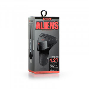 Φορτιστής Αυτοκινήτου Remax Aliens RCC-304 3xUSB - Μαύρο