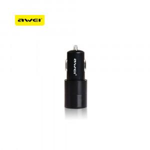 Φορτιστής Αυτοκινήτου AWEI C100 Dual USB - Μαύρο