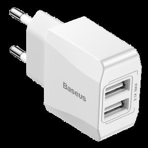 Φορτιστής Σπιτιού Baseus Mini Dual-U 2xUSB 2.1A - Άσπρο