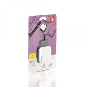 Φορτιστής σπιτιού Baseus Letour Dual USB - Άσπρο