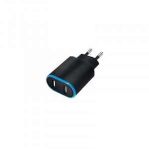 Φορτιστής Σπιτιού Forever TC-03 2 x USB 2.4A - Μαύρο
