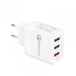 Φορτιστής Σπιτιού 3xUSB Quick Charge 3.0 5.1A Bulk - Άσπρο