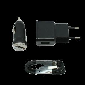 Φορτιστής Αυτοκινήτου Σπιτιού OEM Apple 3 σε 1 - Μαύρο