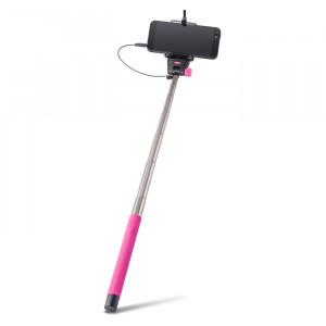 Selfie Stick Forever Monopod με Καλώδιο για Smartphones MP400 - Ροζ