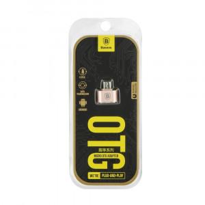 Αντάπτορας BASEUS OTG microUSB Plug & Play - Ροζ Χρυσό
