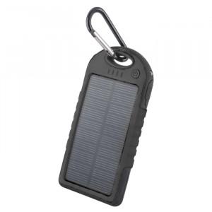Powerbank 5000mAh Setty solar Power με Ηλιακό Panel - Μαύρο