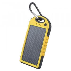 Powerbank 5000mAh Forever STB-200 με Ηλιακό Panel - Κίτρινο