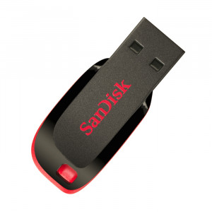 Στικάκι USB SANDISK Pendrive 16GB CRUZER BLADE USB 2.0 - Μαύρο