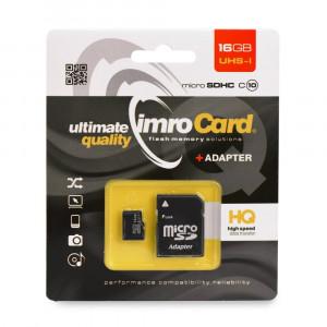 Κάρτα Μνήμης Imro microSD 16GB με Αντάπτορα SD