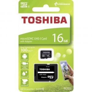 Κάρτα Μνήμης Toshiba microSDHC 16GB M203 UHS I U1 Class 10 με Αντάπτορα SD