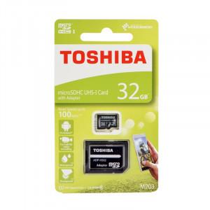 Κάρτα Μνήμης Toshiba microSDHC 32GB M203 UHS I U3 Class 10 με Αντάπτορα SD
