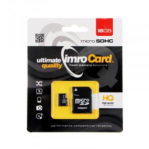 Κάρτα Μνήμης IMRO MicroSDHC 16GB UHS-I cl.6 με Αντάπτορα