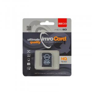 Κάρτα Μνήμης IMRO MicroSDHC 32GB UHS-I cl.10 με Αντάπτορα