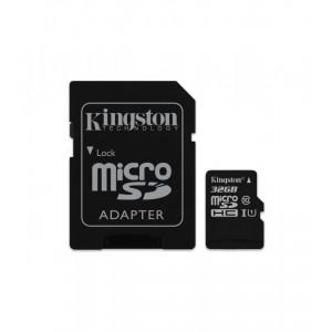 Κάρτα Μνήμης KINGSTON microSDHC 32GB Class 4 με Αντάπτορα