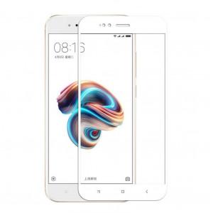 Tempered Glass 9H 3D Full Glue Προστασία Οθόνης για Xiaomi Mi A1 - Άσπρο