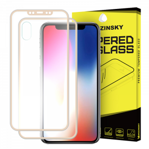 Tempered Glass Wozinsky Edge to Edge Aluminum Frame για Apple iPhone XS / X - Χρυσό
