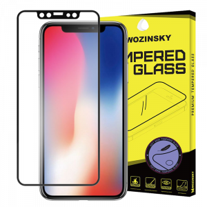 Tempered Glass Wozinsky 9H Προστασία Οθόνης Full Cover Soft Frame για Apple iPhone XS / X - Μαύρο