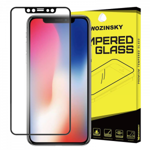 Tempered Glass Wozinsky Full Screen Super 9H Προστασία οθόνης για Apple iPhone XS / X - Μαύρο