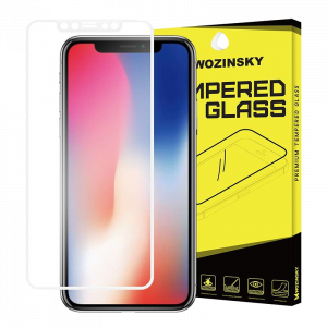 Tempered Glass Wozinsky Full Screen Super 9H Προστασία οθόνης για Apple iPhone XS / X - Άσπρο
