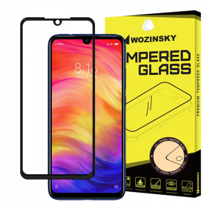 Tempered Glass Wozinsky Full Glue 9H Προστασία οθόνης για Xiaomi Redmi Note 7 - Μαύρο