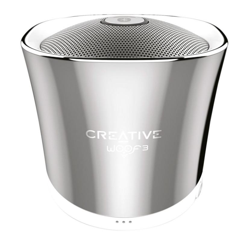 Ηχείο Bluetooth Creative Woof 3 - Ασημί