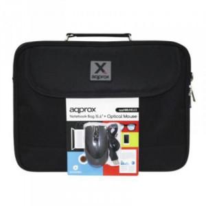 """Τσάντα Μεταφοράς για Laptop και Ποντίκι APPROX! APPNBBUNDLE2 15.6"""" - Μαύρο"""
