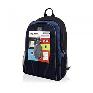 """Σακίδιο για Laptop APPROX! APPNBBUNDLE4 15.6"""" - Μαύρο / Μπλε"""