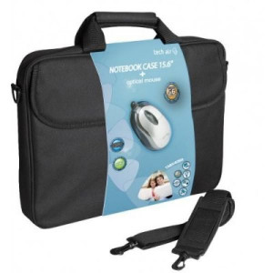 """Τσάντα Μεταφοράς για Laptop με Ποντίκι TECHAIR TABX406R 15.6"""" - Μαύρο"""