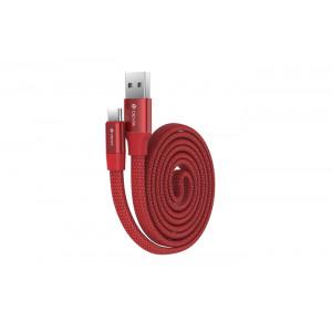 Καλώδιο Φόρτισης και Μεταφοράς Δεδομένων Devia Ring Y1 Type-C - Κόκκινο