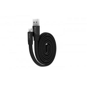 Καλώδιο Φόρτισης και Μεταφοράς Δεδομένων Devia Ring Y1 microUSB - Μαύρο