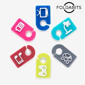 Αναγνωριστικά καλωδίων Foldabits (6 τεμάχια)