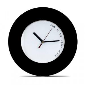 Ρολόι Τοίχου Happy Place - Μαύρο