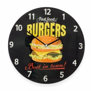 Ρολόι Τοίχου Γυάλινο Burger