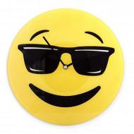 Ρολόι Τοίχου Γυάλινο Cool Emoji
