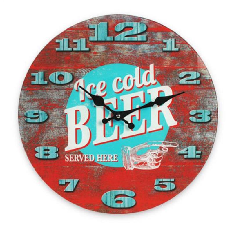 Ρολόι Τοίχου Γυάλινο Ice Cold Beer