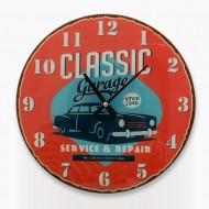 Ρολόι Τοίχου Ξύλινο Vintage Coconut Classic Garage