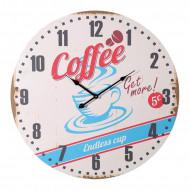 Ρολόι Τοίχου Ξύλινο Vintage Coconut Coffee Cup