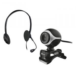 Web Cam Trust Exis Chatpack Set - Μαύρο