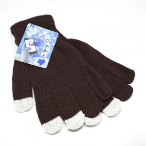 Γάντια για Οθόνη Αφής Touch - Καφέ