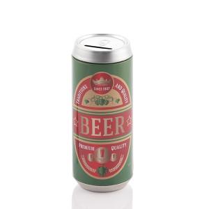 Κουμπαράς Μεταλλικός Κουτάκι Μπύρας Premium Quality - Πράσινο