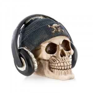 Κουμπαράς Πειρατικό Κρανίο με Ακουστικά - Μπλε