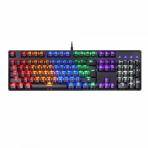Gaming Πληκτρολόγιο Motospeed CK107 Ενσύρματο Μηχανικό (Blue Switches) - Μαύρο