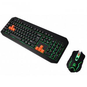 Gaming Πληκτρολόγιο και Ποντίκι REBELTEC Fighter Ενσύρματο - Μαύρο