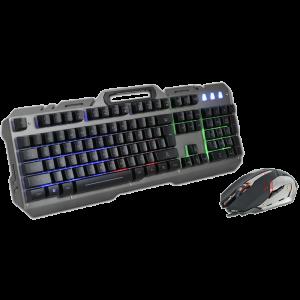 Gaming Πληκτρολόγιο και Ποντίκι Rebeltec Interceptor - Γκρι