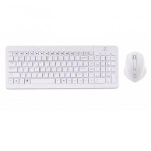 Πληκτρολόγιο και Ποντίκι REBELTEC PURE Ασύρματο - Άσπρο