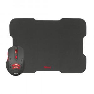 Gaming Ποντίκι Trust Ziva + Mousepad - Μαύρο