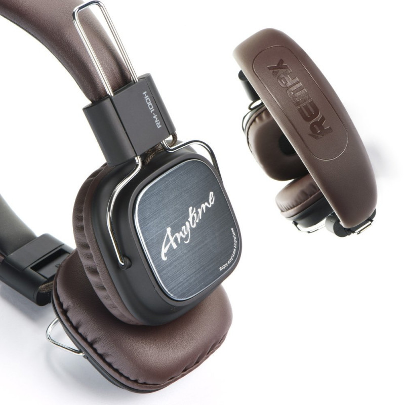 Headphones Remax RM-100H - Μαύρο / Καφέ